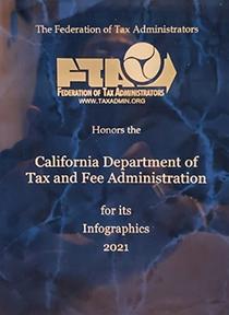 Federation of Tax Administrators 2021 Award Plaque